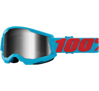 100% Strata 2 Goggles Summit with Silver Mirror Lens