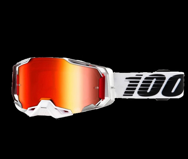 100% Armega Goggles Lightsaber with Red Mirror Lens