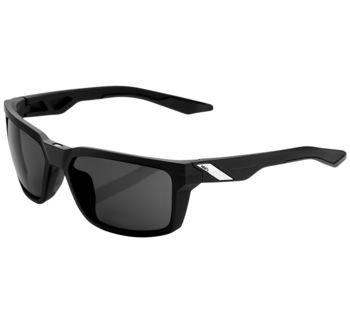 100% Daze Sunglasses Black with Smoke Lens