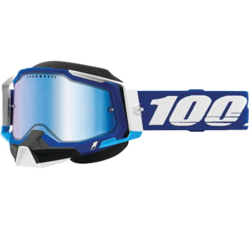 100% Racecraft 2 Snow Goggles Blue with Blue Mirror Lens