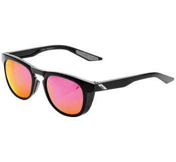 100% Slent Sunglasses Polished Black with Purple Multilayer