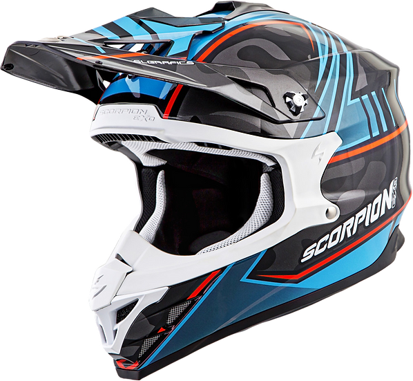 SCORPION EXO VX-35 OFF-ROAD HELMET MIRAMAR BLUE SM