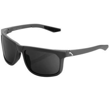 100% Hakan Sunglasses Soft Tact Cool Grey with Smoke Lens