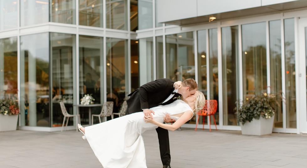 Bride + Groom on The Patio