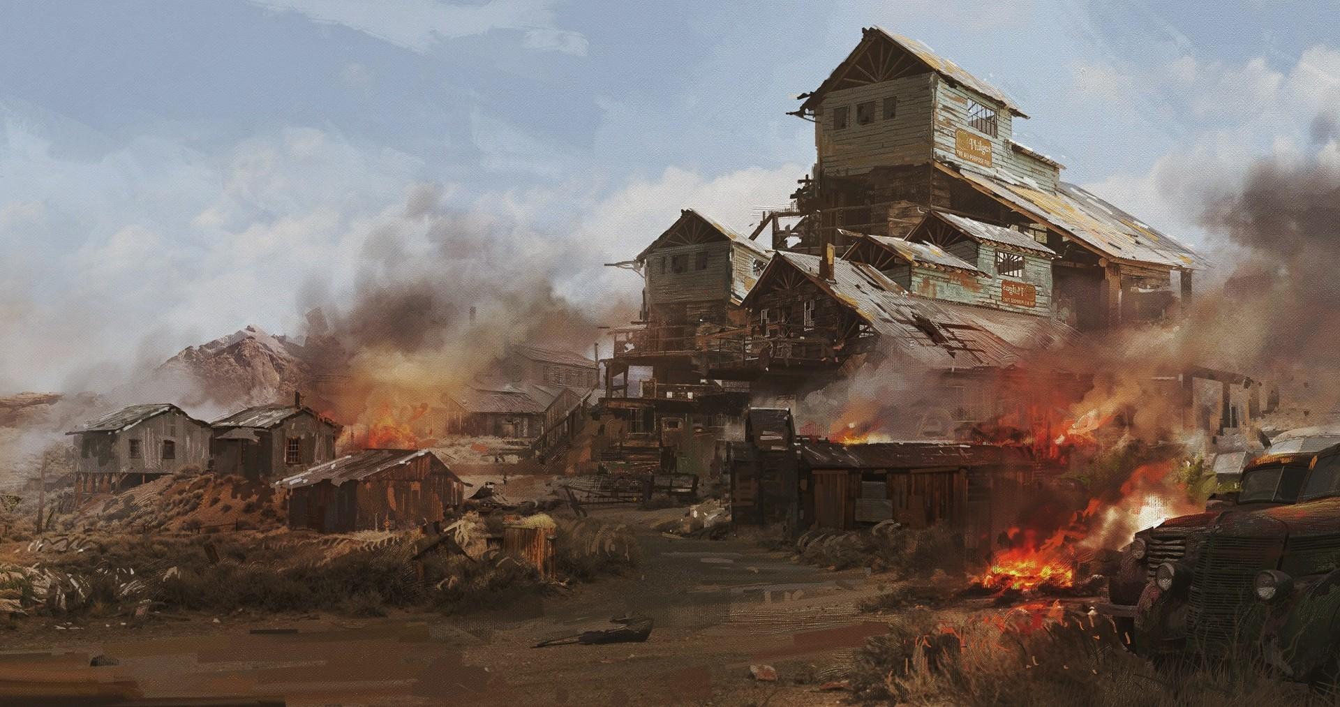 donglu-yu-village-on-fire