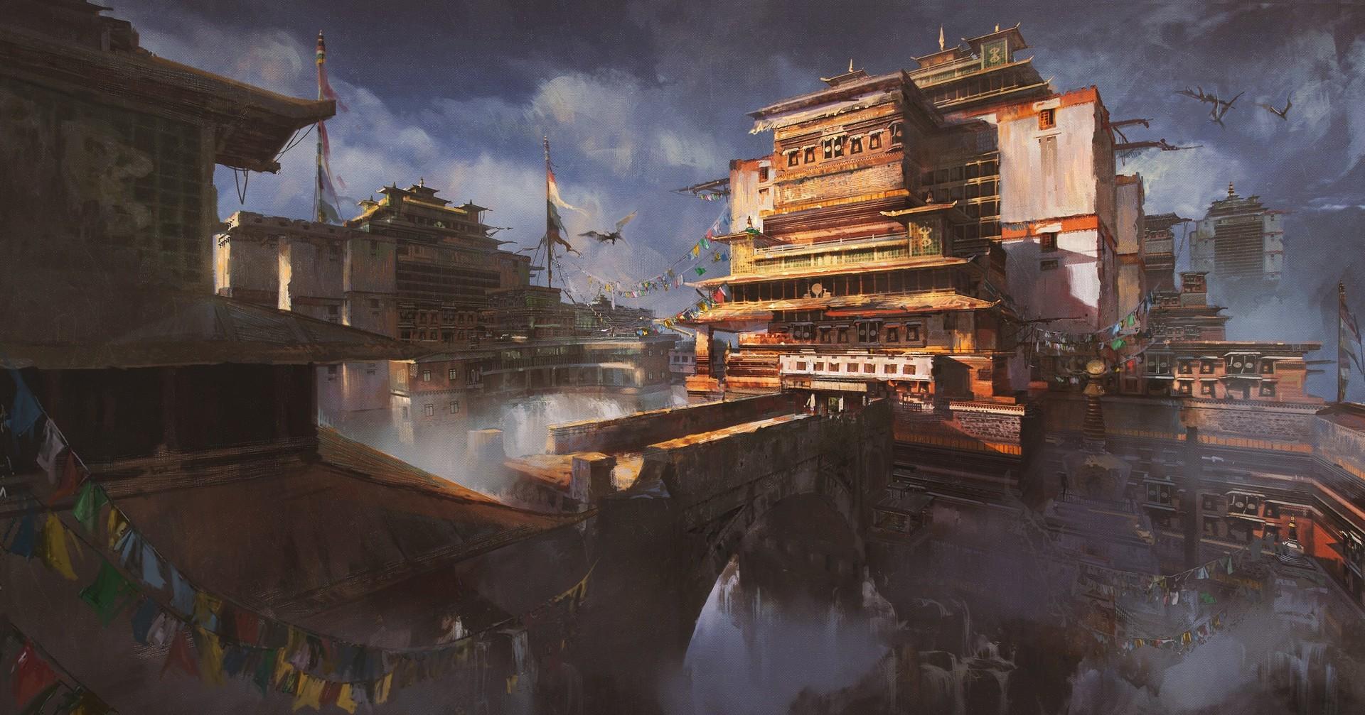 donglu-yu-fantasy-tibetan-town