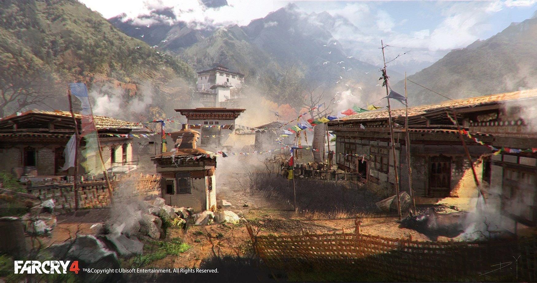 inside village