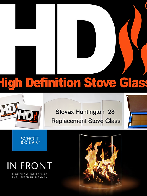Stovax Huntington 28 Stove Glass (Arched topped)