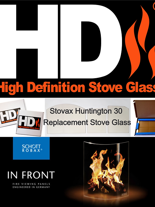 Stovax Huntington 30 Stove Glass (Arched topped)