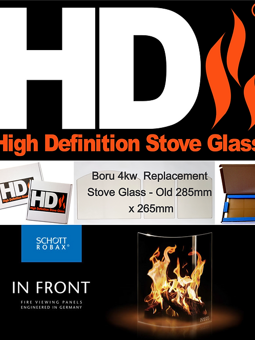 Replacement Stove Glass for Boru 4kw Stove - Old version