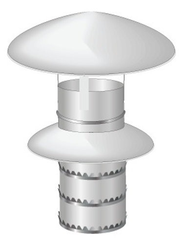 Twin Wall Chimney Rain Cowl (Push to fit)