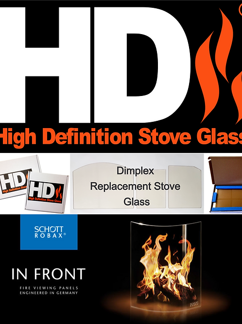 Dimplex Stove Parts- Replacement Stove glass