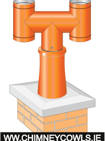 Chimney H Cowl Push To fit Terracotta