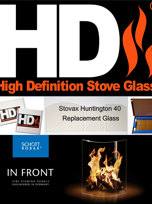 Stovax Huntington 40 Stove Glass (Arched topped)