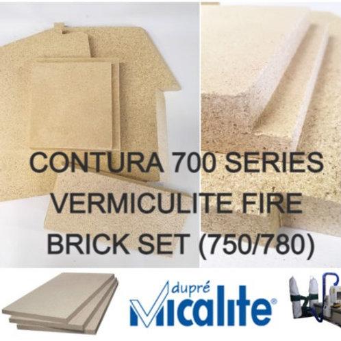 CONTURA 700 SERIES VERMICULITE FIRE BRICK SET (750/780)