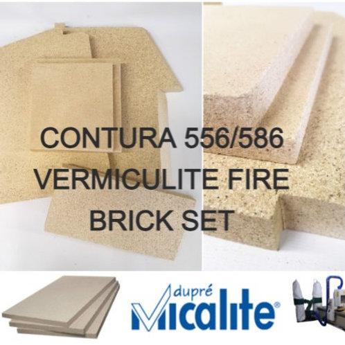 CONTURA 556/586 VERMICULITE FIRE BRICK SET (556/586) - 391303