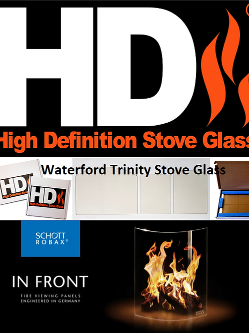 Waterford Trinity Replacement Stove Glass