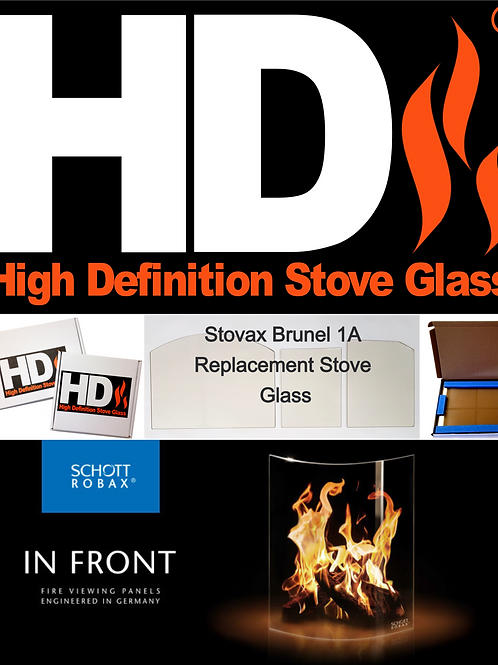 Stovax Brunel 1A Stove Glass
