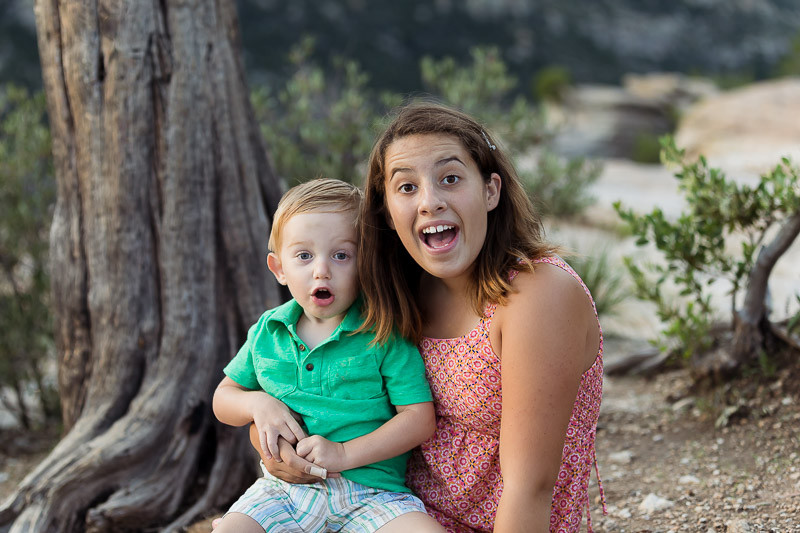 young boy with sister excited desert portrait tucson photographer