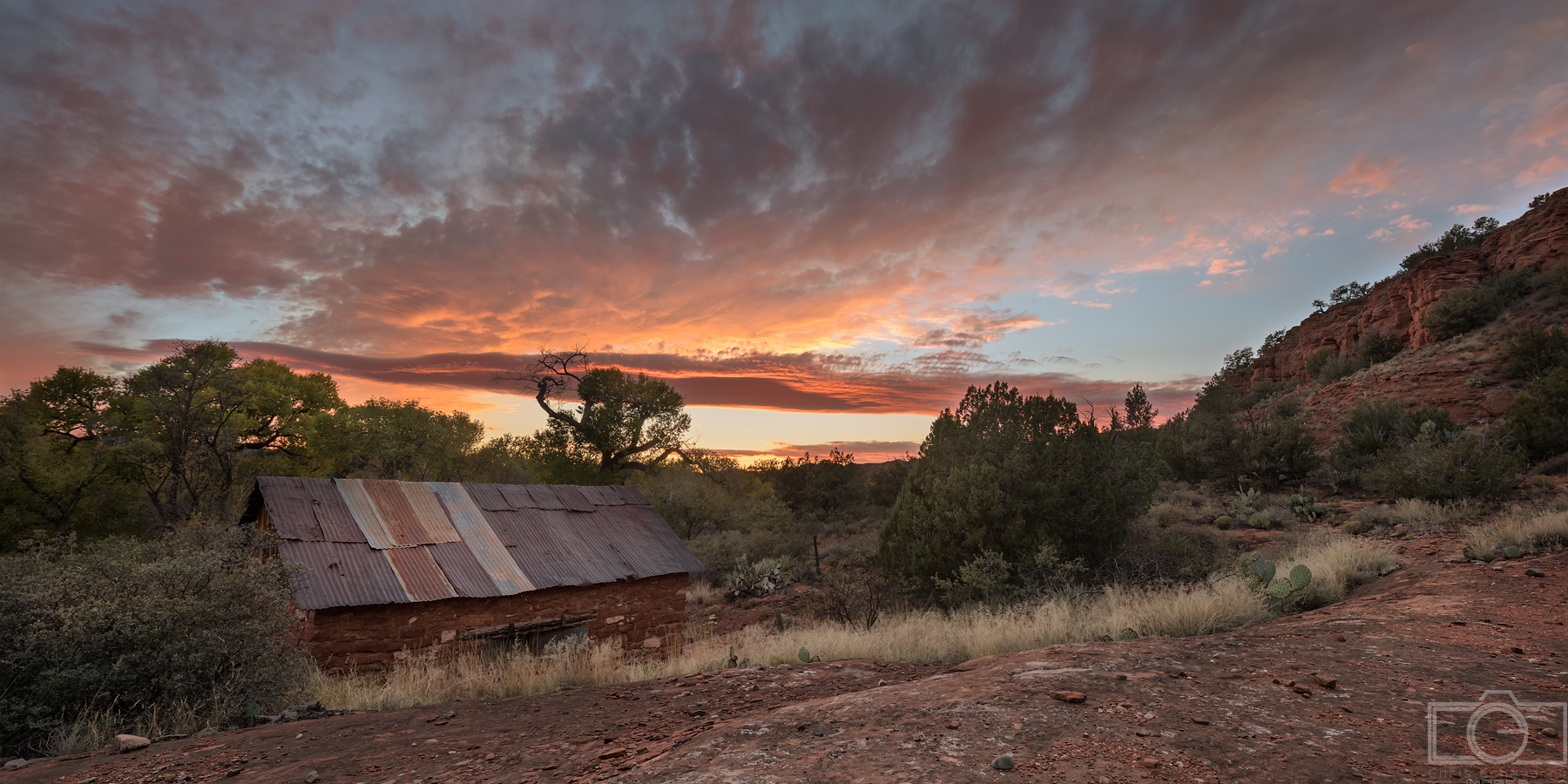 Sedona Sunset shack desert