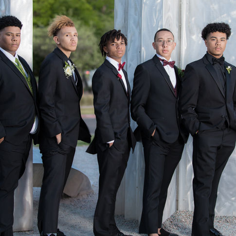 group of men prom photo