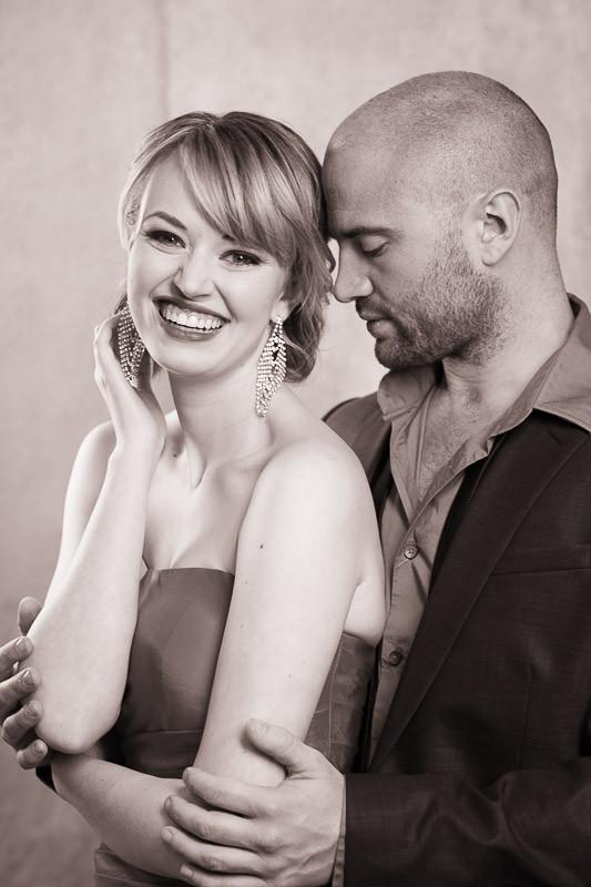 tucson wedding photographer engagement portraits couple posing