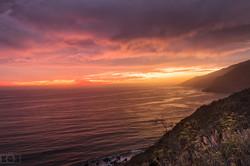 California Coast Sunset ocean
