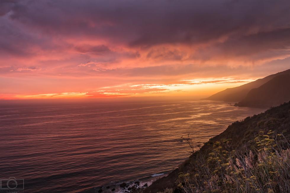 pacific ocean amazing sunset mountains coastline highway 1 california professional landscape photographer tucson