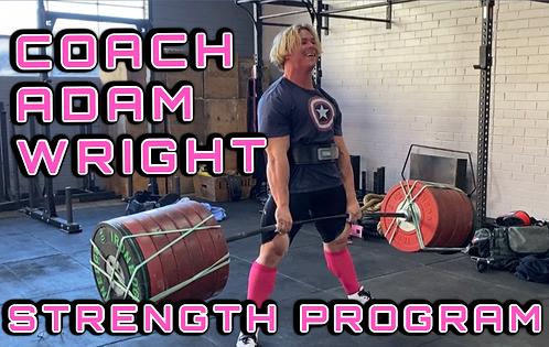 ADAM WRIGHT STRENGTH PROGRAM
