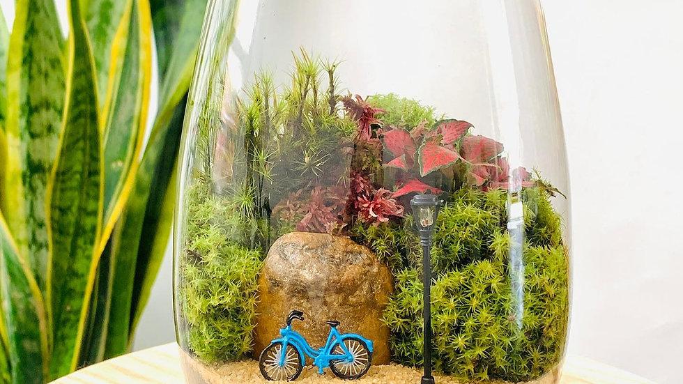Paisagem com bicicleta