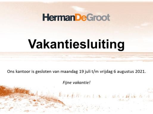 Vakantiesluiting HermanDeGroot