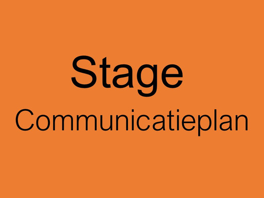 Stagiair gezocht: schrijven van Communicatieplan