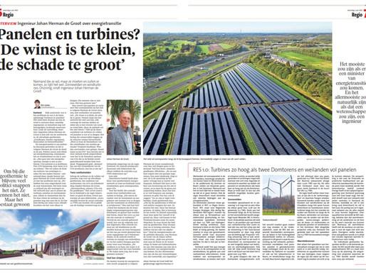 Panelen en turbines? 'De winst is te klein, de schade te groot'