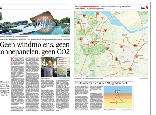 """Publicatie De Gooi en Eemlander 4 juli 2020   """"Geen windmolens, geen zonnepanelen, geen CO2."""""""