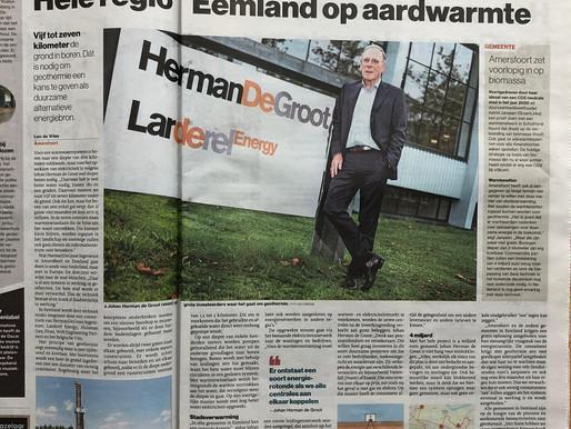 HermanDeGroot en Larderel Energy op de voorpagina!