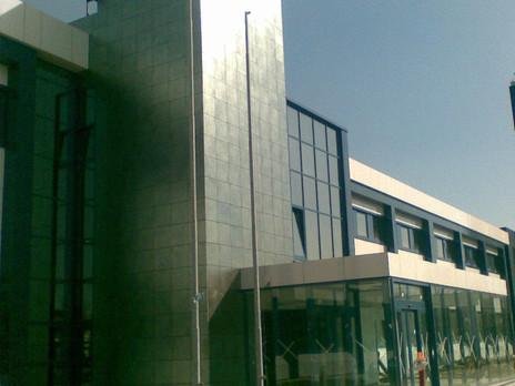 Restyling facciata edificio industriale