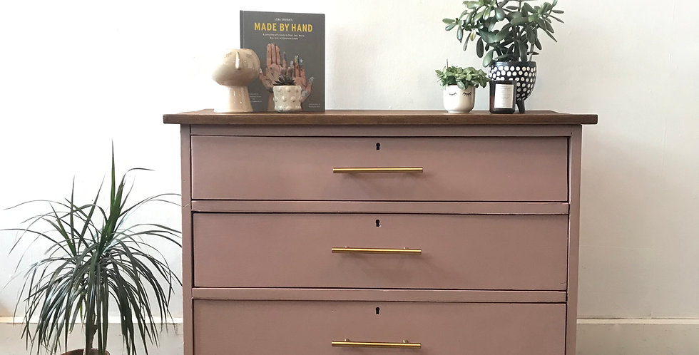 Dusty Pink Chest of Drawers - Price excluding delivery