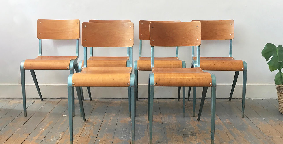 Retro 1950's Esavian School Chairs (set of six) - Price excluding delivery