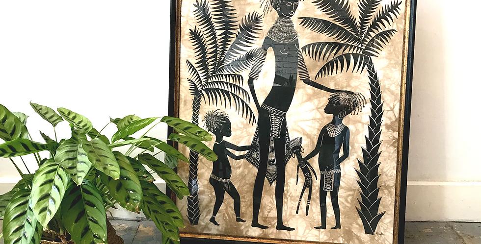 Framed Tribal Print