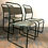 Thumbnail: Set of Three Green Industrial Style Tubular Metal and fabric Cox Chairs