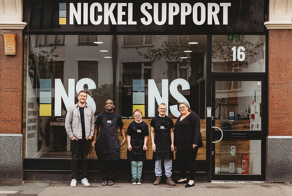 Nickel Support building, trainees, Elena Nicola, Nick Walsh