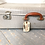 Thumbnail: Vintage Retro Suitcase with luggage label