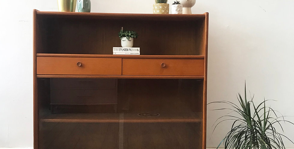 Retro Teak Nathan Display Cabinet - Price excluding delivery