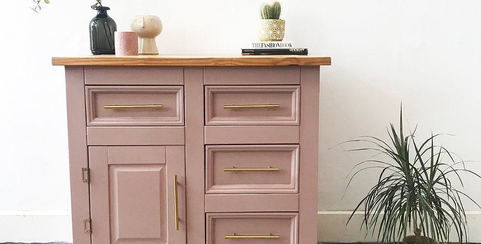 Dusty Pink Compact Cabinet - Price excluding delivery