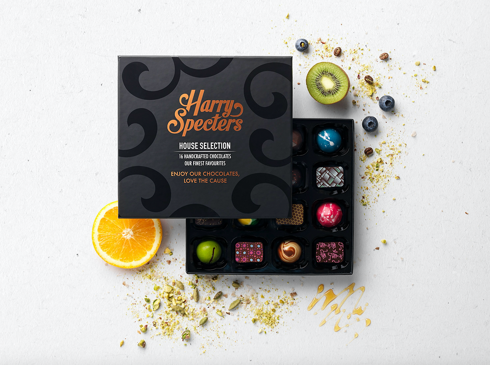 chocolate, chocolate selection, harry specters