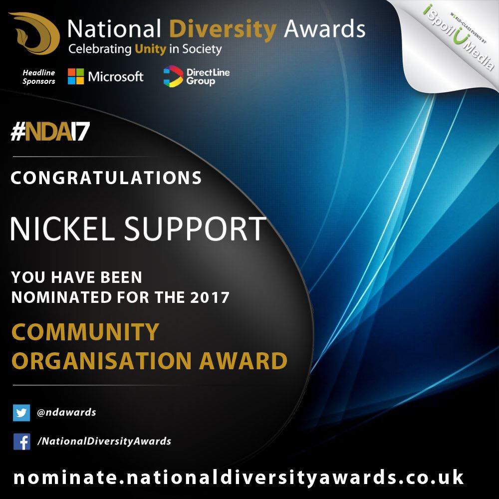 National Diversity Awards Nomination