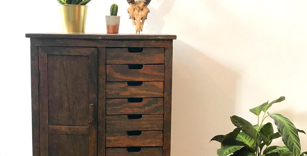 Industrial Style Victorian Workmans Cabinet
