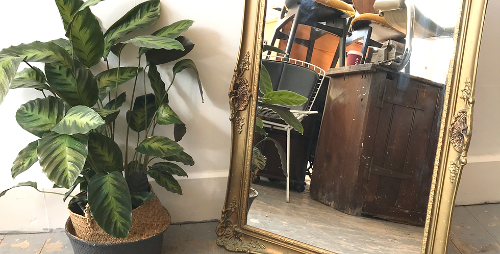 Gold Frame Antique Mirror