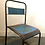 Thumbnail: Pair of blue industrial metal stacking chairs