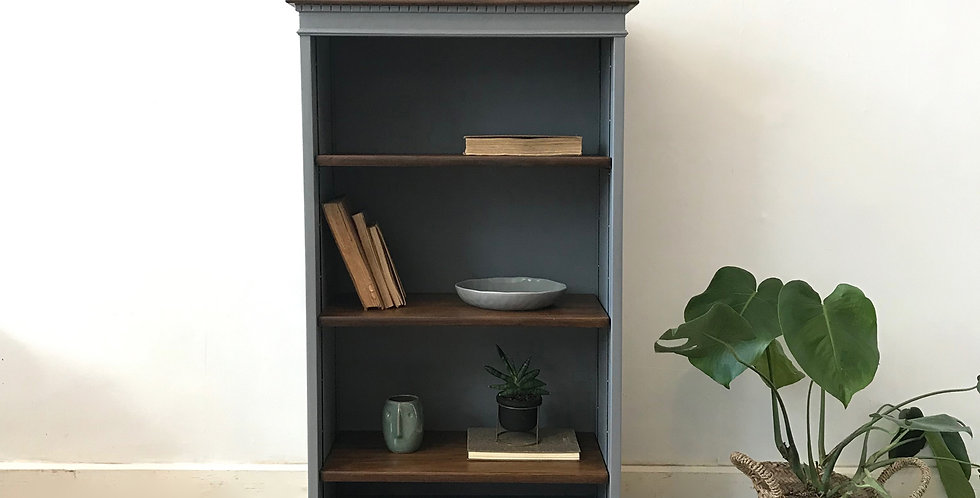 Compact Bookcase in Whitham Grey - Price excluding delivery